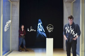 Installation view of Graffiti Analysis: Sculptures, 2013 Courtesy Wesleyan University